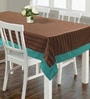 S9home by Seasons Texture Coffee & Aqua Polyester Table Cloth