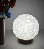 White Yarn Table Lamp