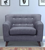 San Bruno One Seater Sofa in Charcoal Grey Colour