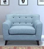 San Bruno One Seater Sofa in Ice Blue Colour