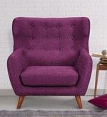 San Juan One Seater Sofa in Deep Sangria Colour