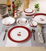 Utsav Collection Bone China Dinner Set - Set of 48