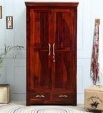 Santis Two Door Solid Wood Modular Wardrobe in Honey Oak Finish