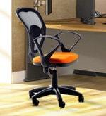 Saphire Mesh Ergonomic Chair in Black and Orange Colour