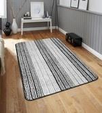 Grey Microfiber 52 x 32 Inch Unique Design Tufted Super Soft Heavy Duty Floor Area Rug