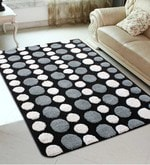 Grey Microfiber 72 x 48 Inch Very Soft Tufted Area Rug