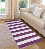 Purple Cotton 72 x 28 Inch Premium Quality Multi Purpose Rug