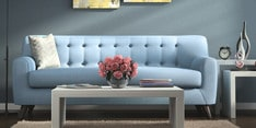San Bruno Three Seater Sofa in Ice Blue Colour