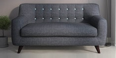 San Bruno Two Seater Sofa in Charcoal Grey Colour