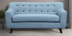 San Bruno Two Seater Sofa in Ice Blue Colour