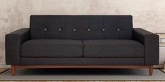 San Dimas Three Seater Sofa in Charcoal Grey Colour