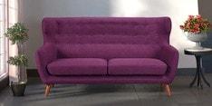 San Juan Three Seater Sofa in Deep Sangria Colour