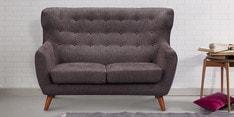 San Juan Two Seater Sofa in Cedar Brown Colour
