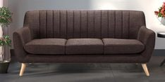 San Pio Three Seater Sofa in Chestnut Brown Colour
