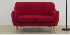 San Pio Two Seater Sofa in Red Colour