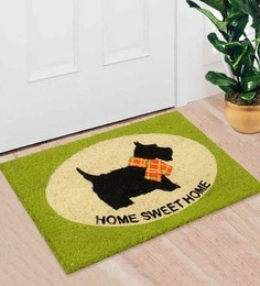 Saral Home Green Coir 24 X 16 Inch Premium Quality Puppy Door Mat