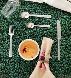 Sanjeev Kapoor Satin Silver Premium Stainless Steel Cutlery - Set Of 24 - 1632191