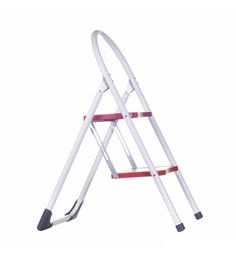 Savera Mekong Red & White Aluminium 2 Steps 1.8 FT Ladder