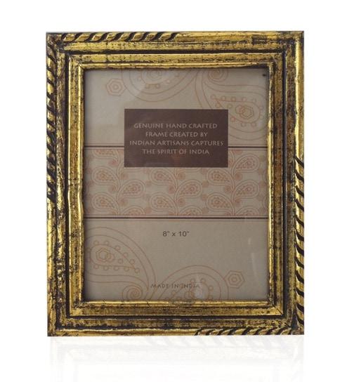 Buy Saaga Golden Wooden 10 X 12 Inch Photo Frame Online Single