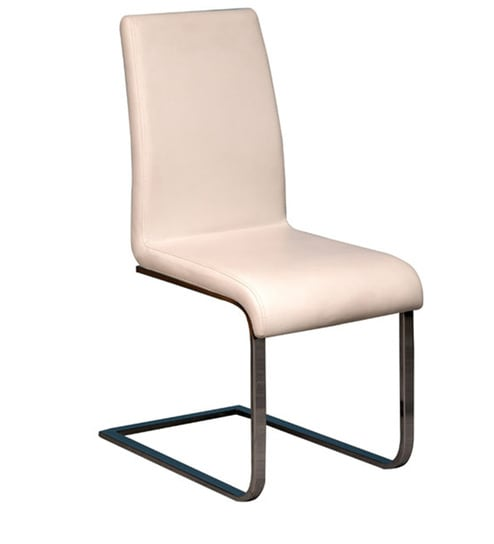 Sabine Side Chair In White Colour By Forzza