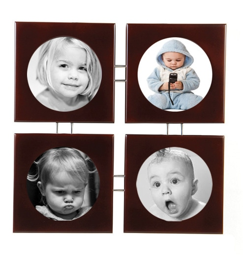 Buy Safal Quartz Brown Mdf 16 X 16 Inch Square Collage Photo Frame