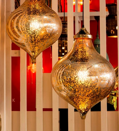 gold glass pendant lamp
