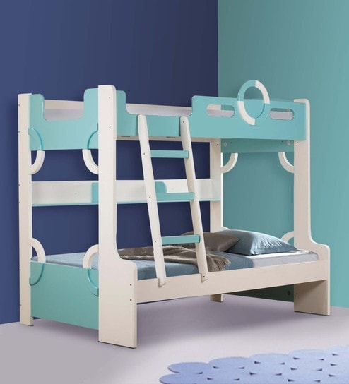 Sailor Kids Bunk Bed in Blue \u0026 White Colour by Child Space & Buy Sailor Kids Bunk Bed in Blue \u0026 White Colour by Child Space ...