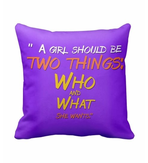 SajawatHomes A Girl Should Be Women s Day Cushion Cover by ... 2b5f08cac