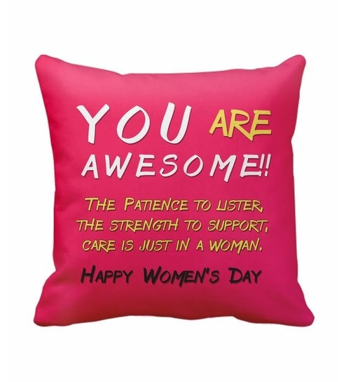SajawatHomes You Are Awesome Women s Day Cushion Cover by ... 28c15ccff5