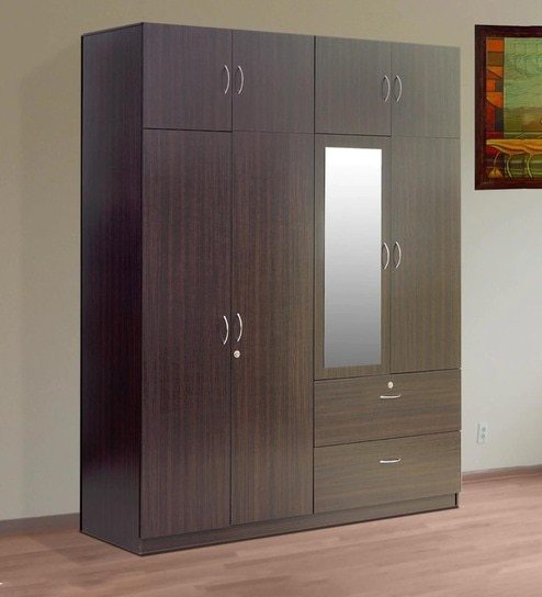 buy sakura four door wardrobe with loft in wenge finish by. Black Bedroom Furniture Sets. Home Design Ideas