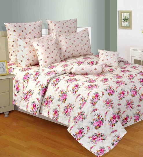 Calico Pink U0026 Gold Floral Bed Sheet Set By Salona Bichona