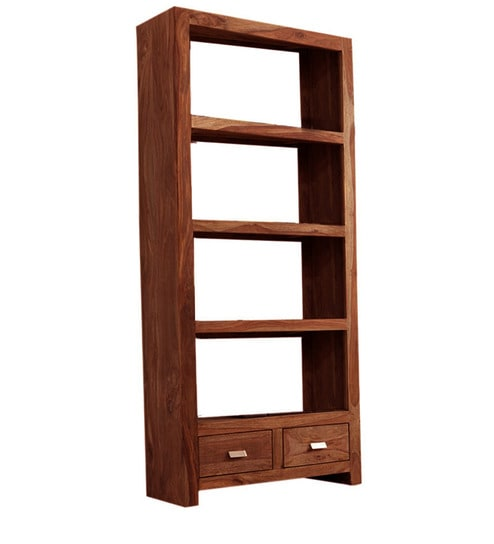 Salvador Open And Closed Book Shelf In Natural Polish By Woodsworth Online Contemporary Shelves Pepperfry