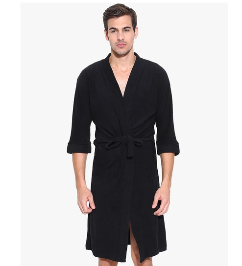 WE ARE SORRY BUT THIS ITEM IS OUT OF STOCK. We Have Put Together These  Similar Items For You. Have A Look. Black Cotton Long Sleeves Gents Bathrobe  by Sand ... 295ae59da
