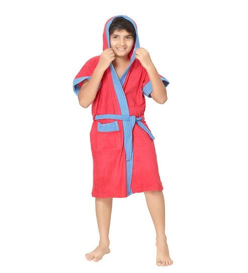 1b13bf74e8 Buy Sand Dune Robe Red Terry Cotton 24X30 INCH Kids Bath Robe Online ...