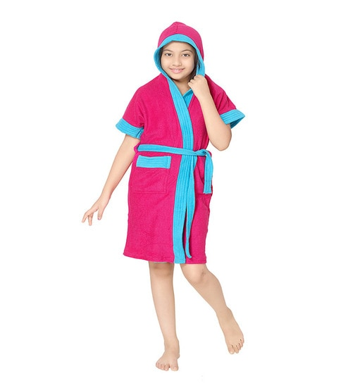 dedfdb4169 Buy Pink Terry Cotton Half Kids Bathrobe By Sand Dune Online - Kids Bath  Robes - Bath Robes - Carpets   Furnishing - Pepperfry Product