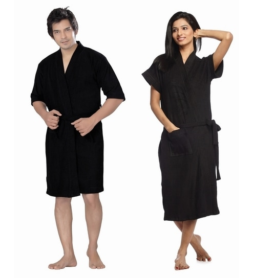 WE ARE SORRY BUT THIS ITEM IS OUT OF STOCK. We Have Put Together These  Similar Items For You. Have A Look. Sand Dune Black Cotton Bath Robe ... f7ad59b83
