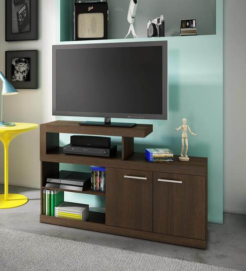 Buy Sasuke Entertainment Unit in Brown Finish by Mintwud Online ...