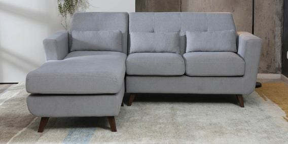5d2734289afd Santiago RHS Two Seater RHS Sofa with Lounger in Ash Grey Colour by  CasaCraft
