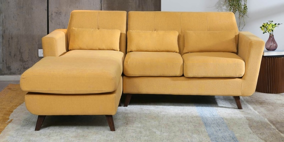 huge discount 56773 e5934 Santiago RHS Sectional Sofa in Camel Yellow Colour by CasaCraft