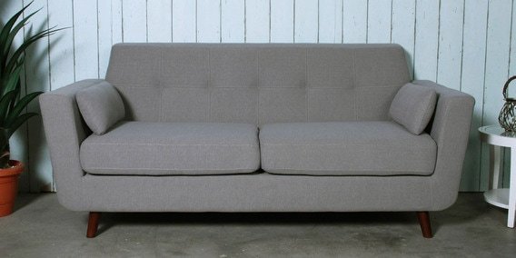 Santiago Three Seater Sofa in Ash Grey Colour by CasaCraft