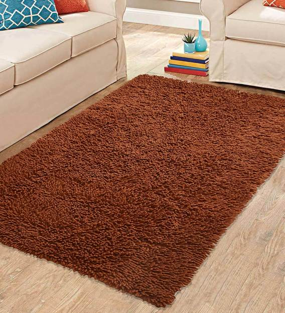 Buy Plain Solids Pattern Cotton Machine Made 3 X 5 Feet Carpet By Saral  Home Online - Shag Carpets - Flooring - Furnishings - Pepperfry Product