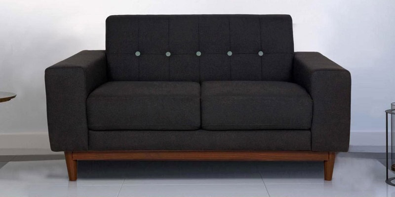 San Dimas Two Seater Sofa in Charcoal Grey Colour by CasaCraft