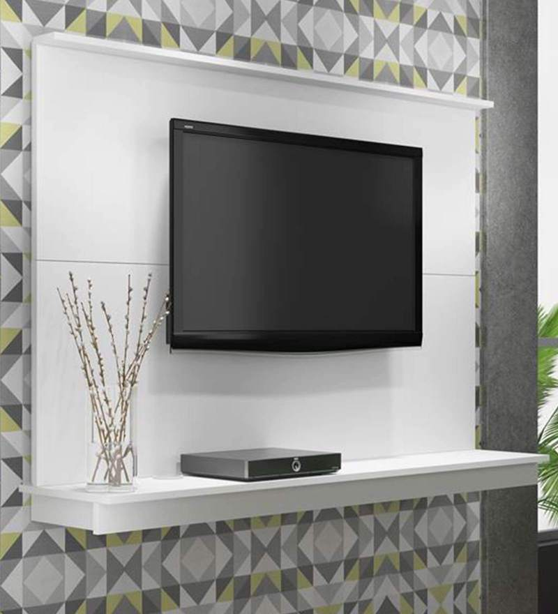 Buy Sakae Wall Mounted Tv Unit In White Finish By Mintwud