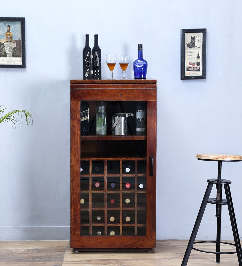 Algona Bar Cabinet in Provincial Teak Finish by woodsworth