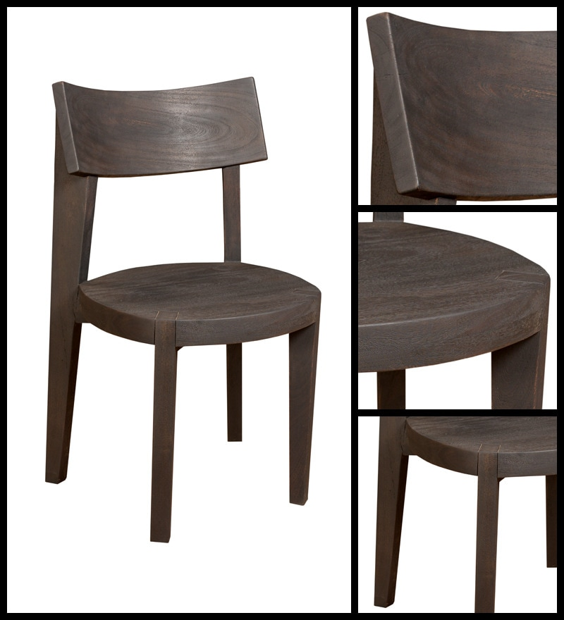 Buy Dining Chairs By Ryc Furniture Online: Buy Fortine Solid Wood Dining Chair In Acacia Wood By