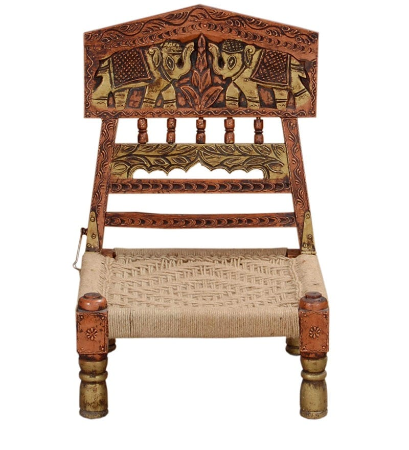 Buy Dvista Hand Painted Low Height Chair By Mudramark