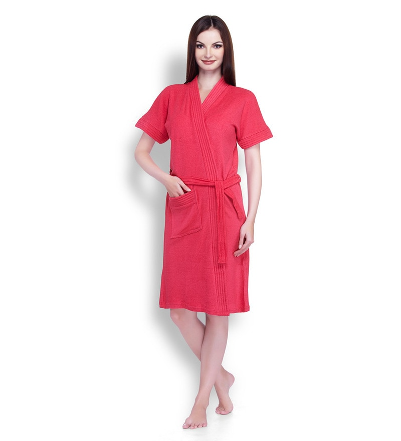 Cherry Cotton Ladies Bathrobe by Sand Dune