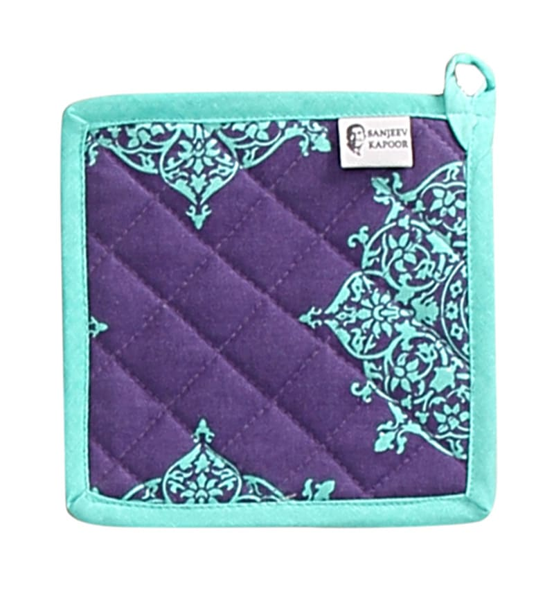 Sanjeev Kapoor Bon Appetit Fete Blue Pot Holder
