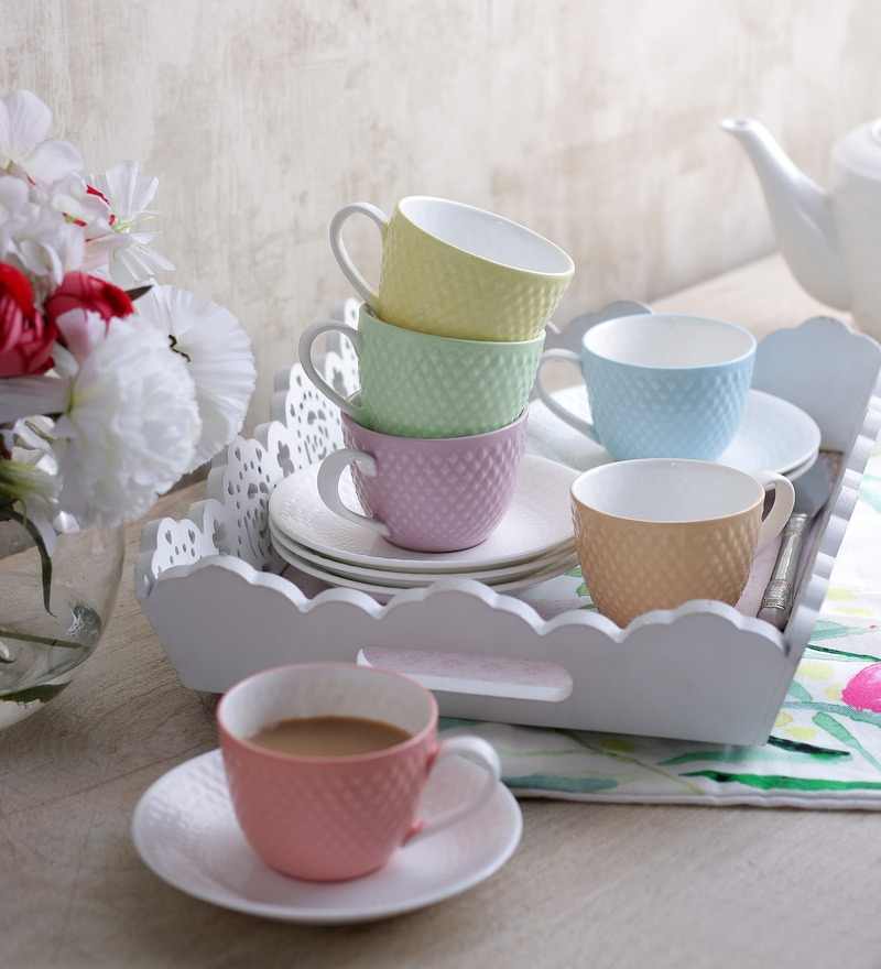 Sanjeev Kapoor's  Prima Cups & Saucers - Set of 6