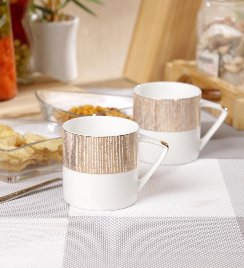 Sanjeev Kapoor Prism Collection Bone China 190 ML Coffee Mug - Set of 6